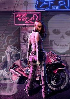 Cyberpunk Games, Cyberpunk Rpg, Cyberpunk Girl, Cyberpunk Character, Cyberpunk Aesthetic, Shadowrun Game, Joan Chen, Sci Fi Characters, Cybergoth