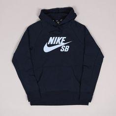 Nike SB Icon Hoodie Obsidiam Hydrogen Blue deae41940