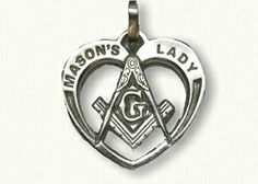#SL05971B Masonic Heart  Pendant