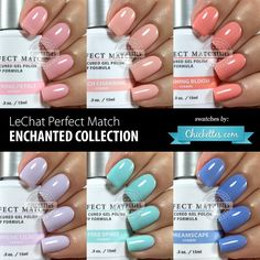 LeChat Perfect Match Enchanted Collection - swatches by Chickettes.com