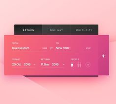 Day 68 - Flight Search by Carl Hauser #interface #mobile #design #application…