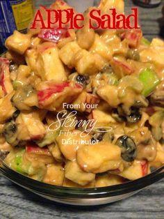 APPLE SALAD 2 large apples - diced 3 celery stalks - sliced 1 C raisins 1 TBS lemon juice 2 TBS honey 2 TBS Mayonnaise 2 TBS Peanut But...