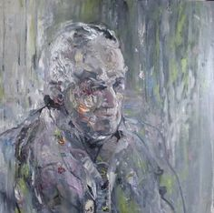 "Saatchi Art Artist Irene Van Den Bos; Painting, ""FATHER"" #art"