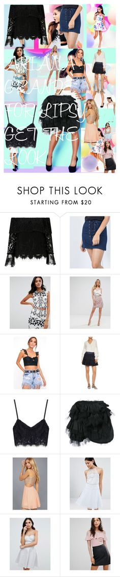 ARIANA GRANDE FOR LIPSY GET THE LOOK by oroartye-1 on Polyvore featuring Lipsy, LULUS, Tricot Comme des Garçons and Alexis