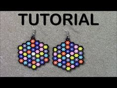 Zarcillos Flores Grandes Mostacillas en Peyote Simple TUTORIAL - Subtitles - YouTube