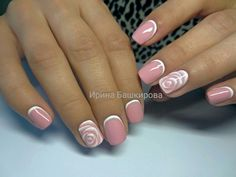 Sns Nails, Nail Manicure, French Nails, Long Nail Art, Nail Pictures, Finger, Make Up Your Mind, Bridal Nails, Nail Art Diy
