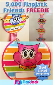 FlapJack Educational Resources: Hanging Editable Owl Circle Templates Freebie for 5,000 FlapJack Facebook Friends!