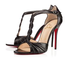 Jazzy Doll 100mm Black Leather   Christian Louboutin