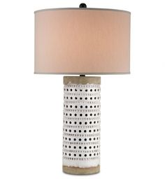 gorgeous lighting ideas for my home renovations — love this  Table Lamp with Antique White Crackle/Satin Black Finish from @lampsdotcom