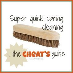 Super quick spring cleaning - the CHEATS guide @ Mums Make Lists #housework