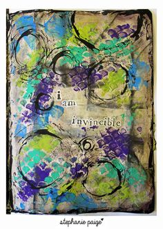 artjournaling.tumblr.com - Art Journaling by stephanie paige. Love the colors... GREAT SITE, SO MANY IDEAS...