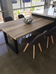 Lamicolor vintage oak laminate used for this beautiful extention piece benchtop.