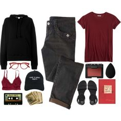 Black-red outfit by blackcherrypie1 on Polyvore featuring IRO, Hybrid, American Eagle Outfitters, ASOS, Nasaseasons, Cutler and Gross, NARS Cosmetics and beautyblender