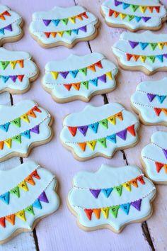 Munchkin Munchies: Rainbow Bunting Cookies