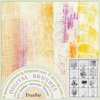 """Brushes Textures (Photoshop Brushes """"Textures"""" for designing digital collages, photobooks & photoalbums. 12 Photoshop Brushes) at D & H Scrap"""