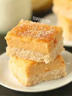 Healthier Lemon Bars These healthier lemon bars are sweetened naturally with maple syrup and are grain-free, gluten-free and dairy-free!