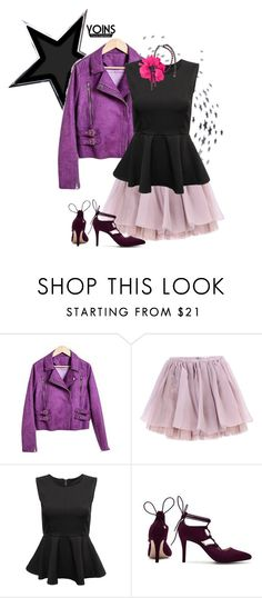 """""""Yoins seventeen (http://yoins.me/1PrM4be)"""" by natcatt ❤ liked on Polyvore featuring Olympia Le-Tan, Lanvin, women's clothing, women, female, woman, misses, juniors, leatherjacket and tutu"""