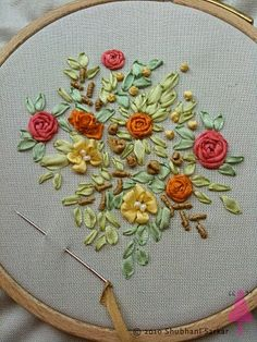 ribbon needlework | FREE SILK RIBBON EMBROIDERY PATTERNS - Embroidery Designs