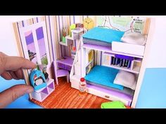 (297) DIY Miniature Dollhouse Room [NOT a KIT] - YouTube