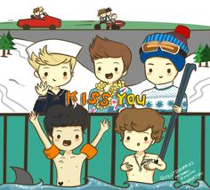 one direction cartoon | simple. but effective