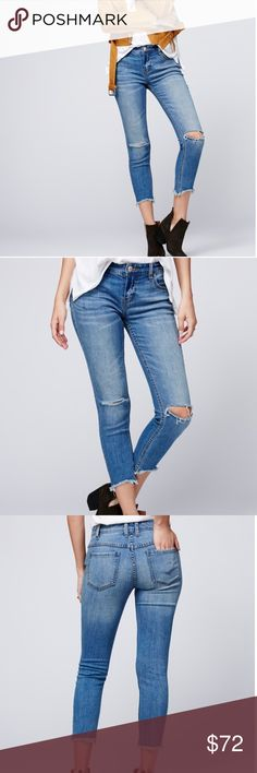 Free People Destroyed Skinny Ankle Jeans Brand NWT - price firm! Free People Jeans Ankle & Cropped