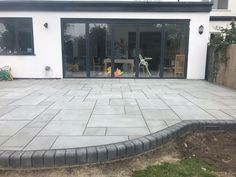 Kandla Grey Sawn Smooth Honed Sandstone Mixed Patio Pack free 48 hour nationwide delivery* Buy Garden Paving Slabs Grey Black all colours Garden Slabs, Garden Paving, Garden Tiles, Stone Patio Designs, Backyard Patio Designs, Back Garden Design, Modern Garden Design, Back Garden Ideas, Patio Steps