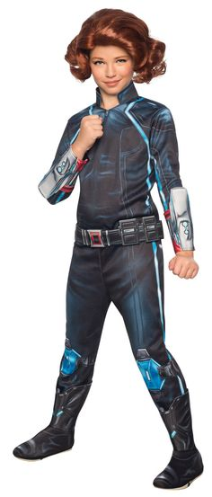 Avengers 2 Deluxe Black Widow Kids Costume - Mr. Costumes