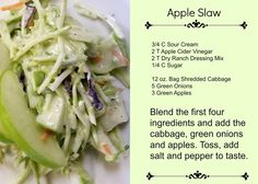 Apple Slaw - Refresh