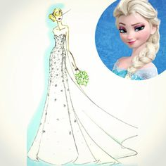 Disney Weddings and Alfred Angelo Bridal are teaming up to make a Frozen wedding dress. #frozen #weddingdress #weddinggown