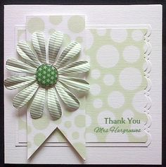 Order Code: 061405  This has been a really popular Thank You card design for the teachers. I think it's lovely for any occasion. I can make it every colour and you can choose your own sentiment and insert wording.