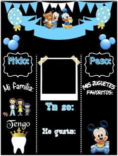 Festa Mickey Baby, Fiesta Mickey Mouse, Baby Boy 1st Birthday, Mickey Birthday, Baby Shower Parties, Baby Boy Shower, Royal Baby Showers, Baby Album, Holidays And Events