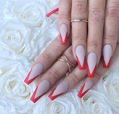 ✨ ғᴏʟʟᴏᴡ @ᴊᴀᴄᴋsᴏɴᴇᴍɪʟʏᴊ ғᴏʀ ᴅᴀɪʟʏ ᴘɪɴs ✨ Acrylic Nails Stiletto, Toe Nails, Hands To Myself, Cute Nail Designs, Perfect Nails, Manicures, Claws, Nail Ideas, Triangle