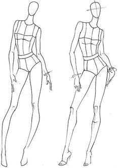 Шаблоны женских фигур в движении