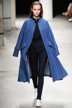Barbara Bui Spring 2014 Ready-to-Wear Collection_this is surprising im loving this denim coat