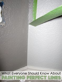 muren schilderen met een perfecte scheidingslijn