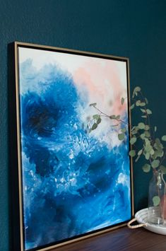 Blue Abstract Art - Oceans abstract art by Lindsay Letters.