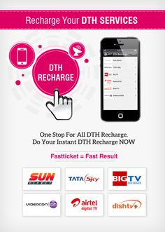 It's almost the month end when you worrying for paying all the bills & recharges, activation of #DTH is made easy with few steps from Fastticket Mobile #App. Recharge it Now & grab discount #coupons from Fastticket.in