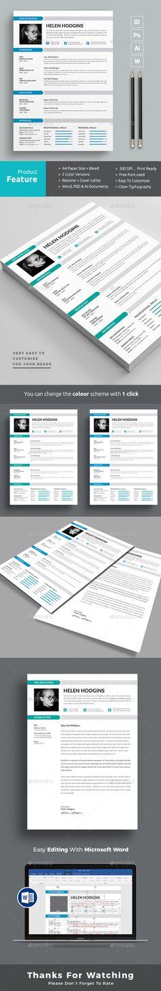 Resume #us letter #resume • Download here → https://graphicriver.net/item/resume/20660093?ref=pxcr