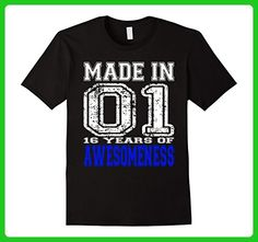 Mens 16 Years of Awesomeness 16th Birthday Gift Tshirt Made In 01 Small Black - Birthday shirts (*Amazon Partner-Link)