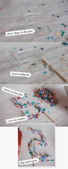 confetti numbers and letters