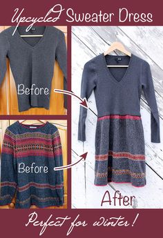 dress tutorials, sweater dresses, wear comfort, comfi dress, comfort sweater, winter sweaters, cloth upcycl, craft blogs, winter dresses