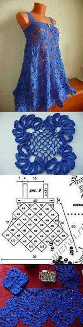 Letras e Artes da Lalá: blusa de crochê com receita