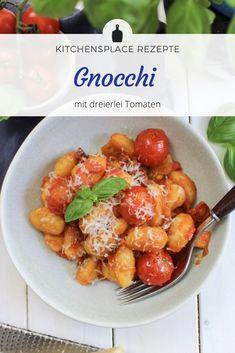 In diesem Beitrag zeige ich Dir ein leckeres Gericht aus Gnocchi mit dreierlei Tomaten - ein Rezept für die schnelle Feierabendküche.