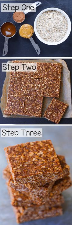 """A """"lightened up"""" version of those classic chocolate oatmeal no bake bars everyone loves so much!"""