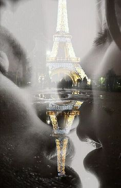 I love this double exposed picture. Him, Her and Paris...