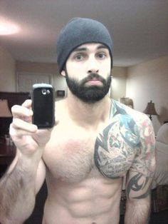 beard + tattoo = love... Why does this remind me of Jacob??