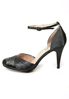 9fd95743c Oronzo Ladies Women Court Shoes Grey High Heel Ankle Strap Size EU 35-40 (UK  2-7) (EU 37 - UK 4)  Amazon.co.uk  Shoes   Bags