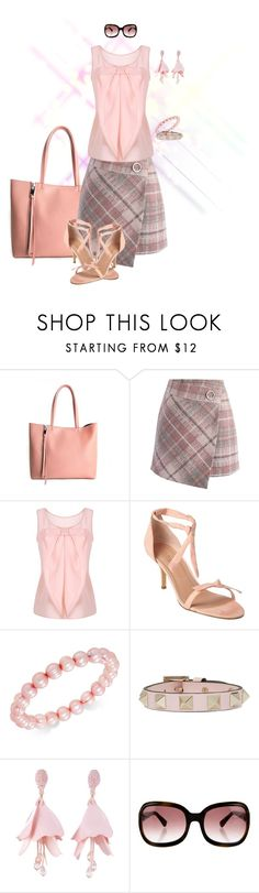 """Plaid Skirt 2"" by stormysmom on Polyvore featuring Elena Ghisellini, Chicwish, Charles by Charles David, Honora, Valentino, Oscar de la Renta and Paul Smith"
