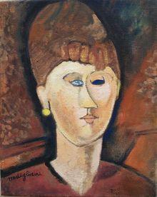 Amedeo Modigliani: Girl with the blue eye Chaim Soutine, Italian Paintings, Atelier D Art, Amedeo Modigliani, Picasso Art, Z Arts, Italian Artist, Figurative Art, Female Art