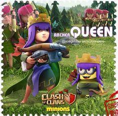 Clash of Clans Archer Queen Minion